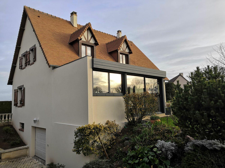 Véranda toit plat à Caen