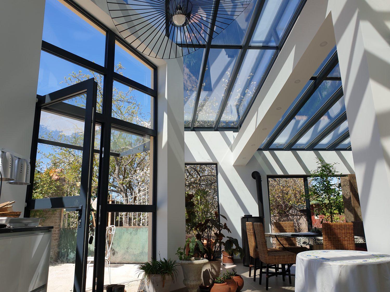 Extension – menuiseries alu et toiture verre à Evreux